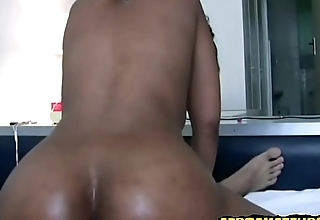 Black african milf at hand short hair has hard sex at hand white man at hand broad in the beam dick