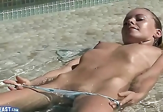 Lena Nicole Having Fun in Pool