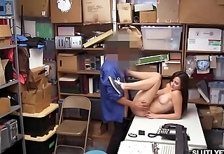 LP Officer bangs Jade Ambers tight pussy from behind as she bend over doggystyle!