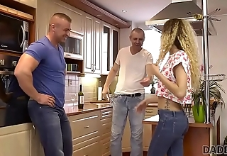 DADDY4K. Naughty dad unexpectedly seduces son'_s new young girlfriend