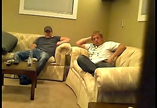 Douglas (1/2) straight guy caught masturbating with another guy on spy cam