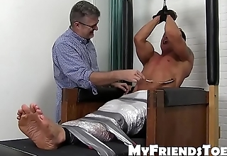 Bound hunk Bryce Evans punished with merciless tickling