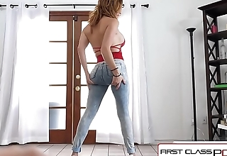 FirstClassPOV - Krissy Lynn take a monster cock in her throat, big boobs