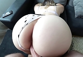 Young schoolgirl fuck through panties