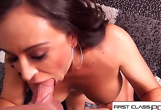 FirstClassPOV - Claudia Valentine sucking a big dick, big boobs &amp_ big booty