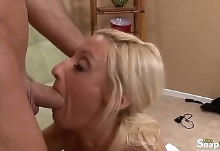 Blonde Embeds Huge Dick in Her Pussy
