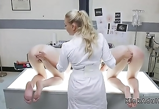 Busty doctor anal toys homo slaves