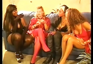 Orchestrate of unalike ladies are talking and prepearing for sex party