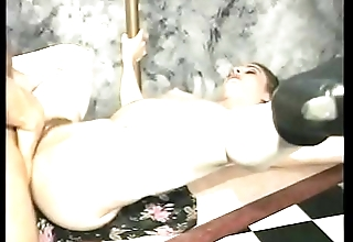 Randy cum chugging slut Chloe gets dick deep inside her ass and twat on the desk