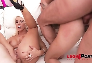 Blanche Bradburry &amp_ Lyen Parker lick &amp_ toy each others ass to prepare for hot sex and DP