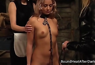 Pleasure and Pain: Enslaved Girl Furiously Whipped Off out of one's mind Mistress