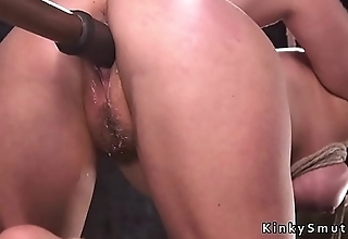Busty blonde remembered slave in hotie