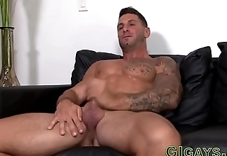 Military straighty jerking off