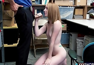 Petite skinny shoplifter punish fucked