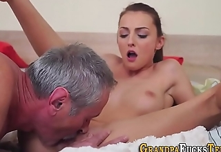 Teen tugging pervs cock