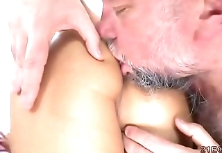 Old guy fucks hammer away hot babe