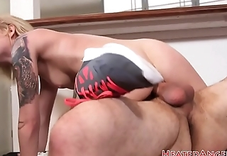 Cocksucking alternative beauty rides dick