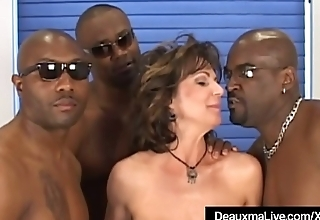 Busty Of age Cougar Deauxma Fucked In Ass By 3 Black Cocks!