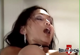 Four busty lesbian Milfs stretching bore and pussy with toys