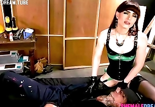 Shemale Natalie Mars Pounds A Tattooed Construction Worker - See Full Video at ShemaleDream.Tube