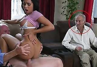 BLUE PILL MEN - Pulchritudinous Black Pornstar Aaliyah Hadid Takes These Old Men For A Ride!