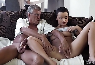 DADDY4K. Horny brunette unleashes all lust on boyfriend'_s old daddy