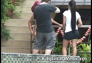 Filipina.webcam webcam girls sexy bikini pool party competition in a difficulty Philippines