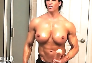Holy Think the world of Female Bodybuilder Massive Futanari Cock