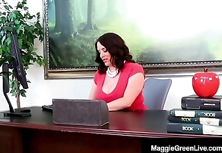 Ebony Student Jenna Foxx Sits On Ms. Maggie Green'_s Face!