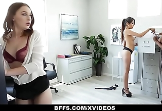 BFFS - Horny Interns Share Cock With Their Bigwig