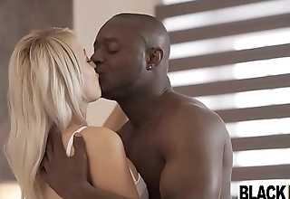 Sexy blonde Euro unreserved Katy Crunch at one's best boned by a black dick
