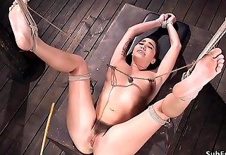Hairy pussy busty menial caned