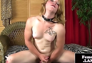 Amateur femboi enjoying her exclusively action