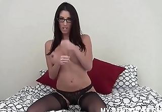 How do you allied to my hot new black pantyhose JOI