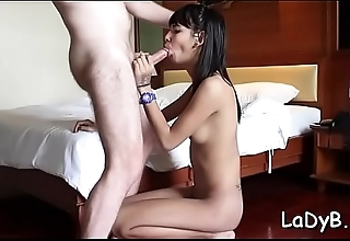 Asian shemale slut enjoys possessions butthole roughly screwed