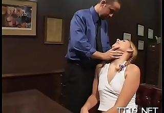 Schoolgirl with small love melons gets banged hard in plenty of poses