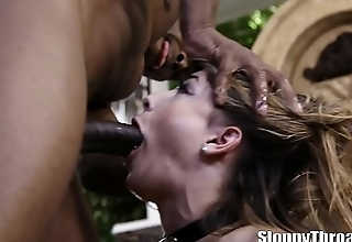 Kristen Scott interracial gagging