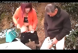 Pop with an increment of Youn Girl in Forest