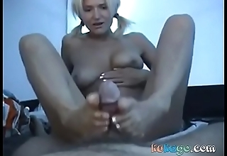 Amateur Nudist Hand Vocation and Footjob