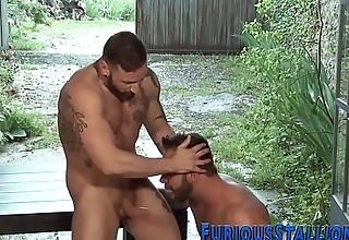 Muscled gay gay blade slammed