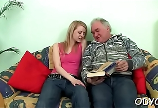 Barely legal bitch likes old guy more than her coevals