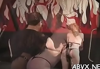 Extreme thraldom video with cutie obeying put emphasize dirty play