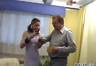Breathtaking old and juvenile fucking with hot babe getting it hard