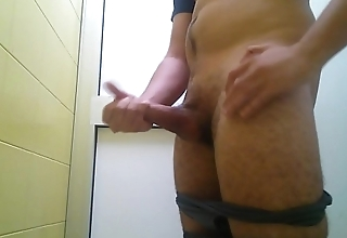 HUGE CUM in public TOILET