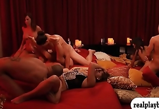 Perverted swingers swap partner and orgy