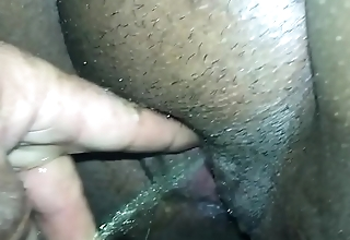 Wife pissing outside