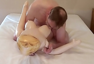 Sex with a blow-up doll.