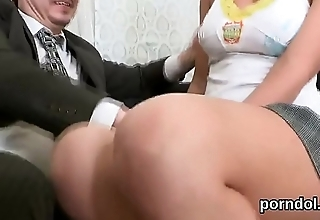 Ideal college girl gets seduced and plowed by older mentor