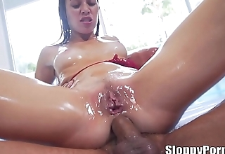 Super oiled slut Tiffany Doll